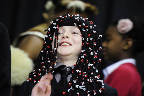 Boy in Zulu headdress
