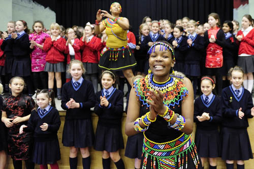 Zama leads girls dance workshop